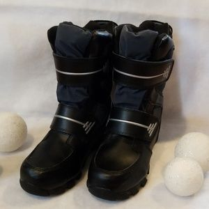 CIRCO Boy's Black Snow Boots w/ Velcro Straps